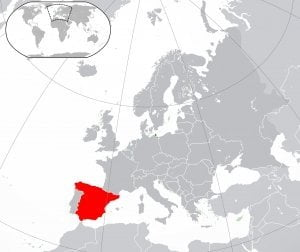 Spain geographic map