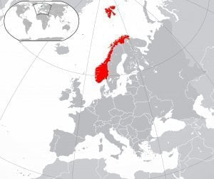 Norway geographic map