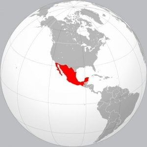 Mexico geographic map