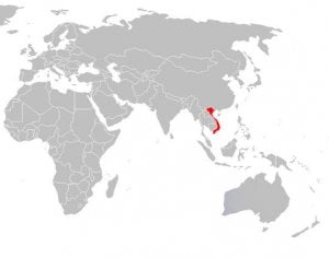 Vietnam geographic map