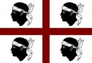 Cerdeña bandera 4 moros