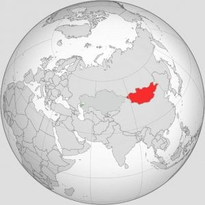 geographical Mongolia map
