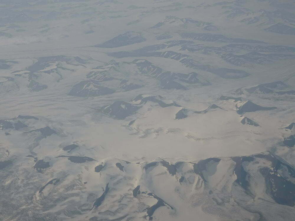 Svalbard Islands from the plane