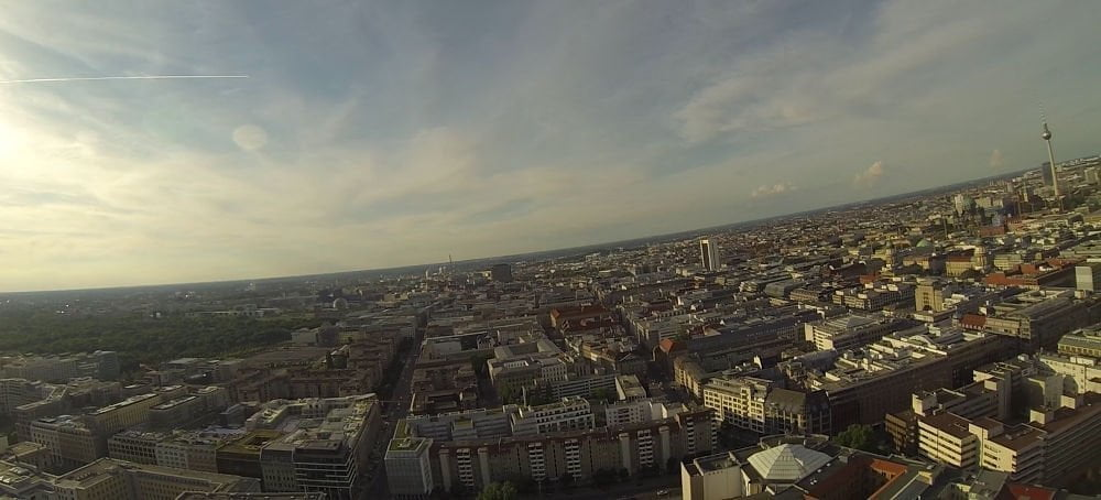 Germany - Berlin - landscape from balloon