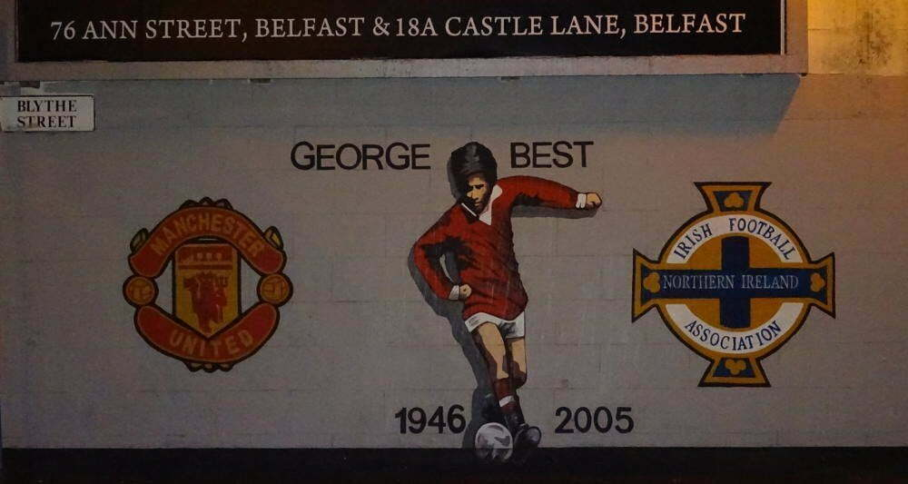 Ireland - Belfast - George the Best murales