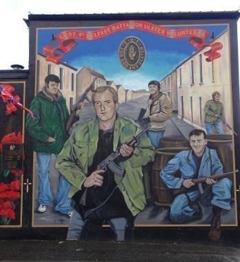 Ireland - Belfast - loyalist murales
