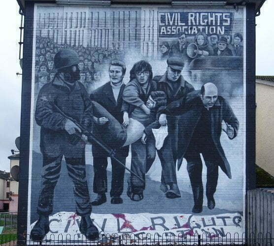 Ireland - Derry - Bogside - civil rights association murales