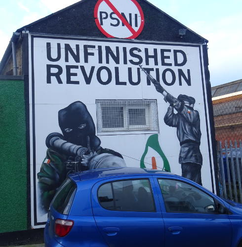 Ireland - Derry - Bogside - unfinished revolution murales
