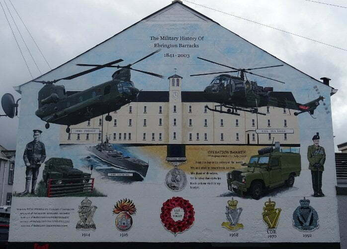 Ireland - Derry - loyalist ebrington barracks