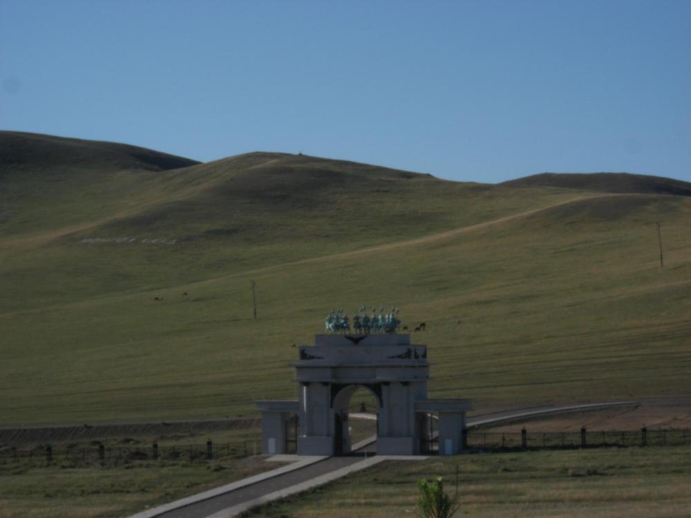 monument entrance Genghis Khan - Mongolia