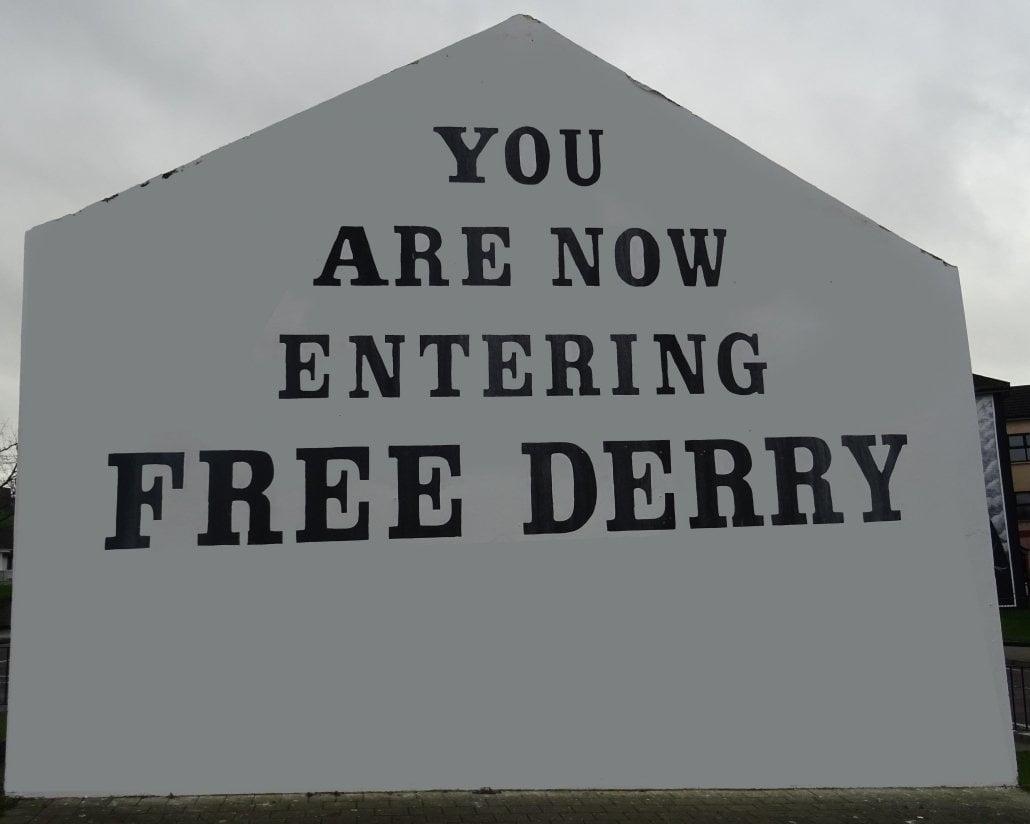 Ireland - murales free Derry