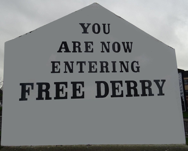 Irenald - murales free Derry