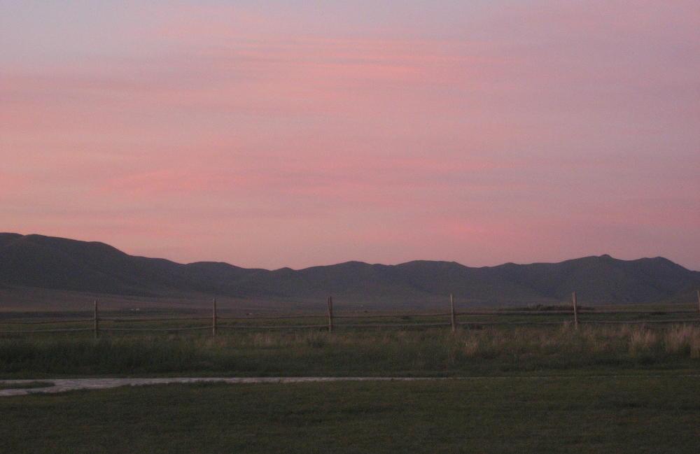 Mongolia - Gun Galuut - tramonto