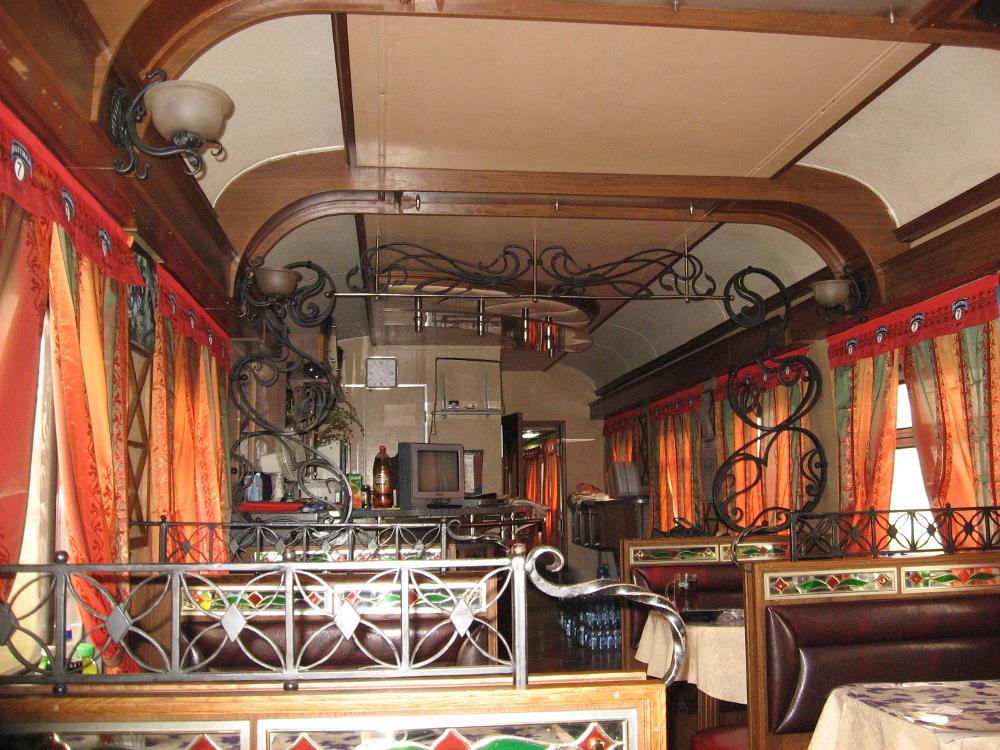 Ferrocarril Transiberiano - coche restaurante