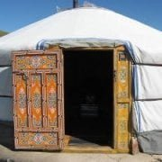 Mongolia - ingresso ger