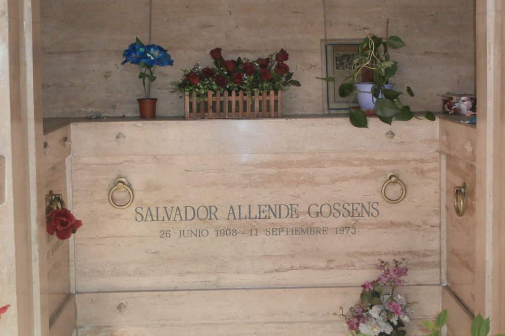 Chile - Santiago de Chile - Cementerio General - tumba de Salvador Allende