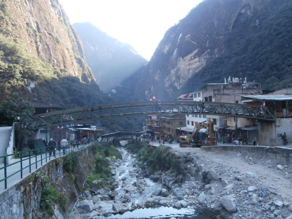Peru - city of Aguas Calientes base to go to Machu Picchu