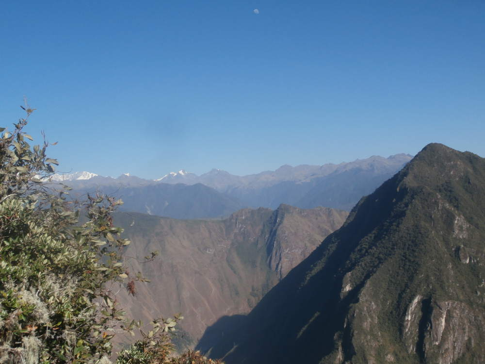 Peru - landscape of Huayna Picchu Mountain and the Andes Mountain from Machu Picchu Mountain