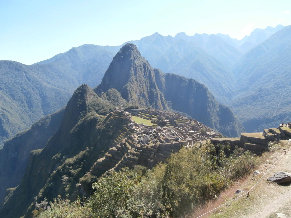 Peru - landscape of Machu Picchu from the archaeological site
