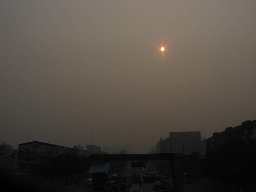 Cina-Pechino-sole