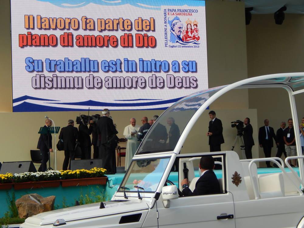 Sardegna - Casteddu/Cagliari - Papa Francisco