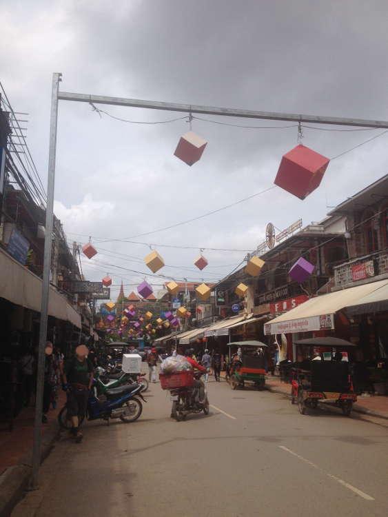 Cambodia - street in Siem Reap