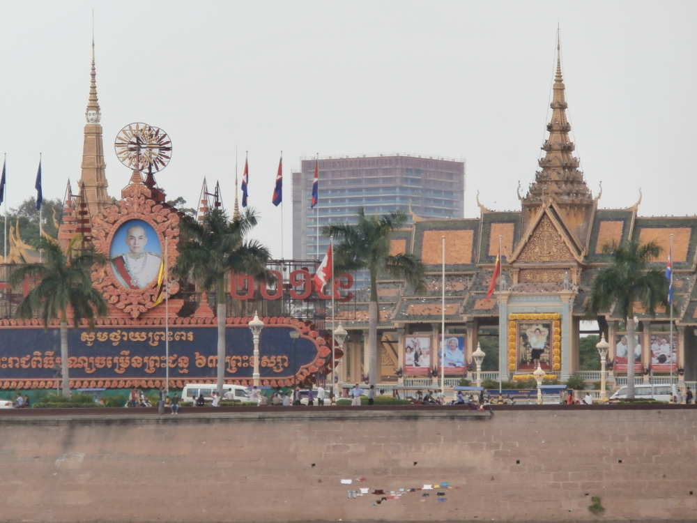 Cambodia - arriving in Phnom Phen from Mekong River