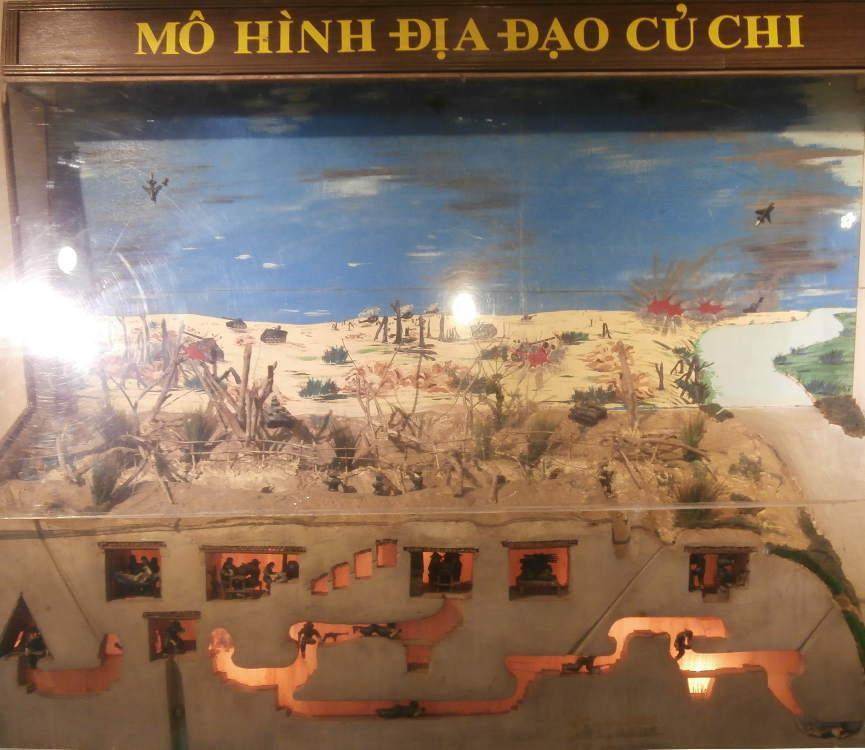 Vietnam - Cu Chi - representación del túnel