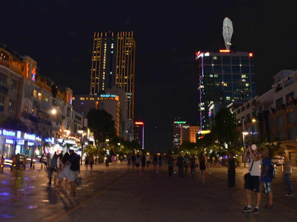 Vietnam - Ho Chi Minh City HCMC Saigon - street at night