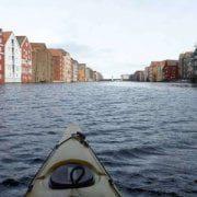 Norvegia - Trondheim - Kayak sul fiume Nidelva