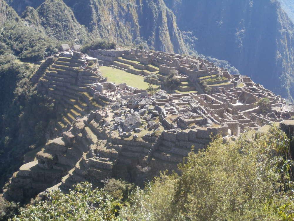 Peru - panorama dalla Montagna Machu Picchu