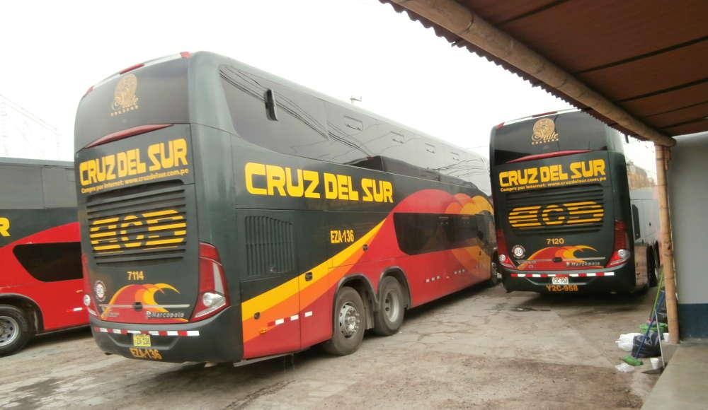 Peru - autobus Cruz del Sur