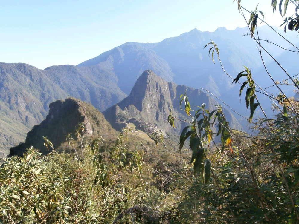 Perú - paisaje desde la cima de la Montaña Machu Picchu