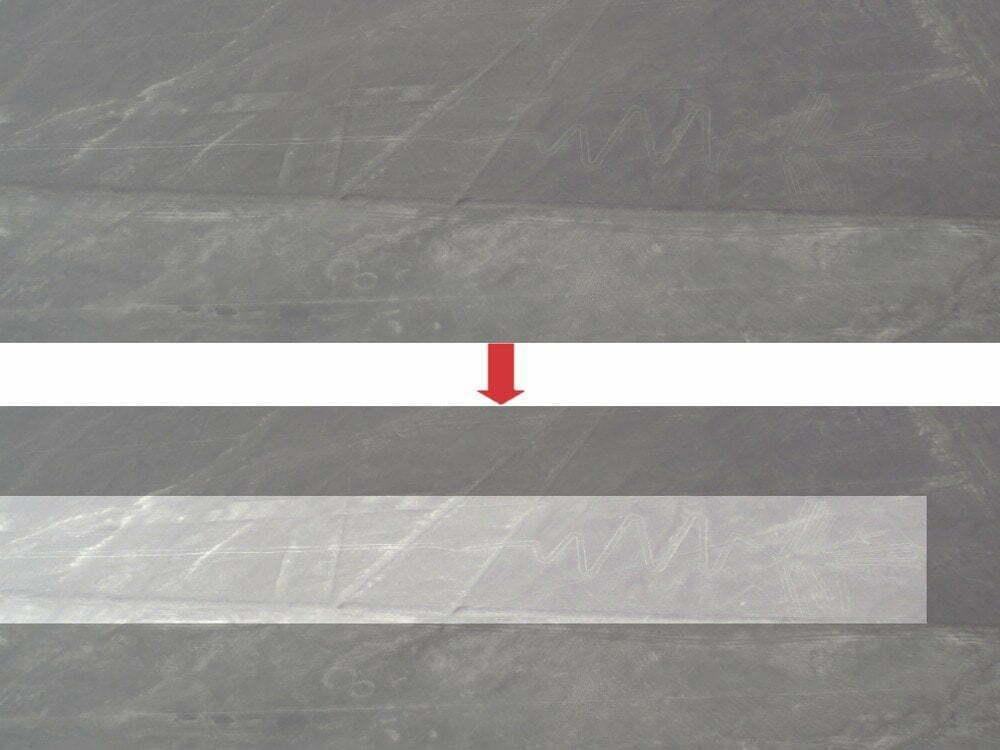 Peru - Linee di Nazca - zoom Airone Fenicottero Alcatraz + immagine evidenziata