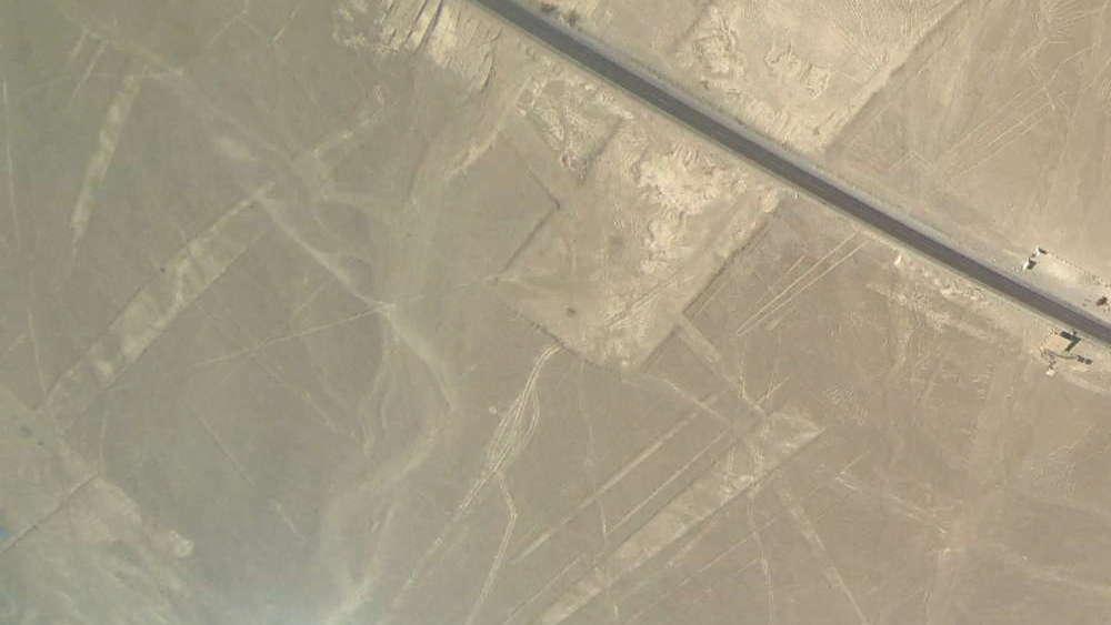 Peru - Linee di Nazca - fiore dall'aereo