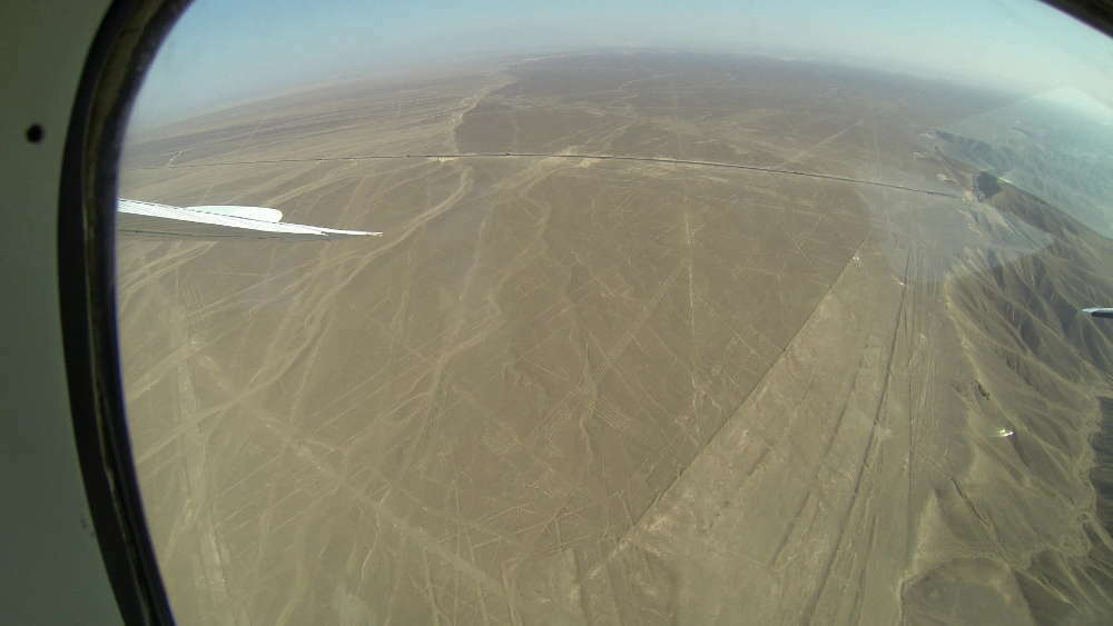 Peru - Nazca Lines - Frigate from the plane
