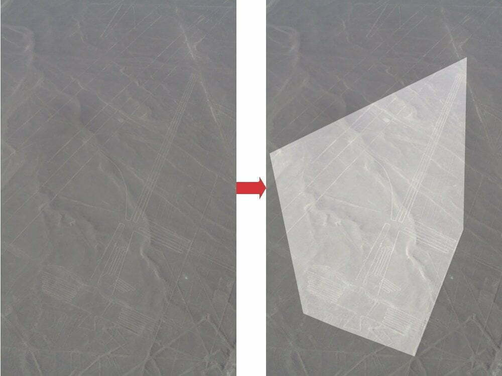Peru - Nazca Lines - Frigate zoom + highlighted image