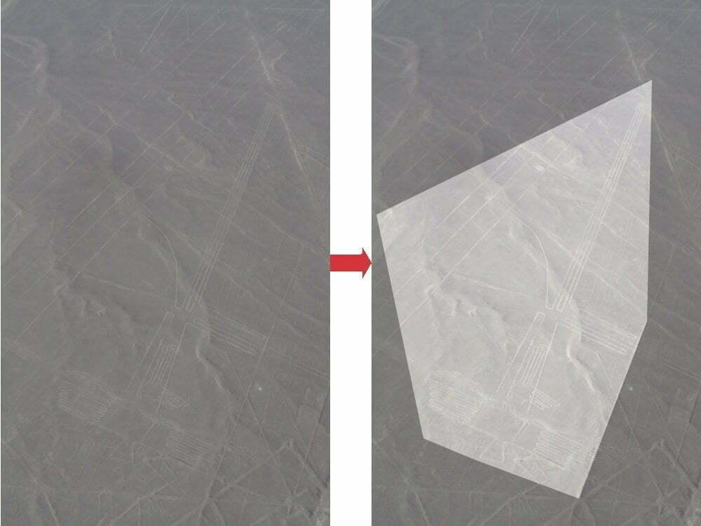 Peru - Linee di Nazca - zoom fregata + immagine evidenziata