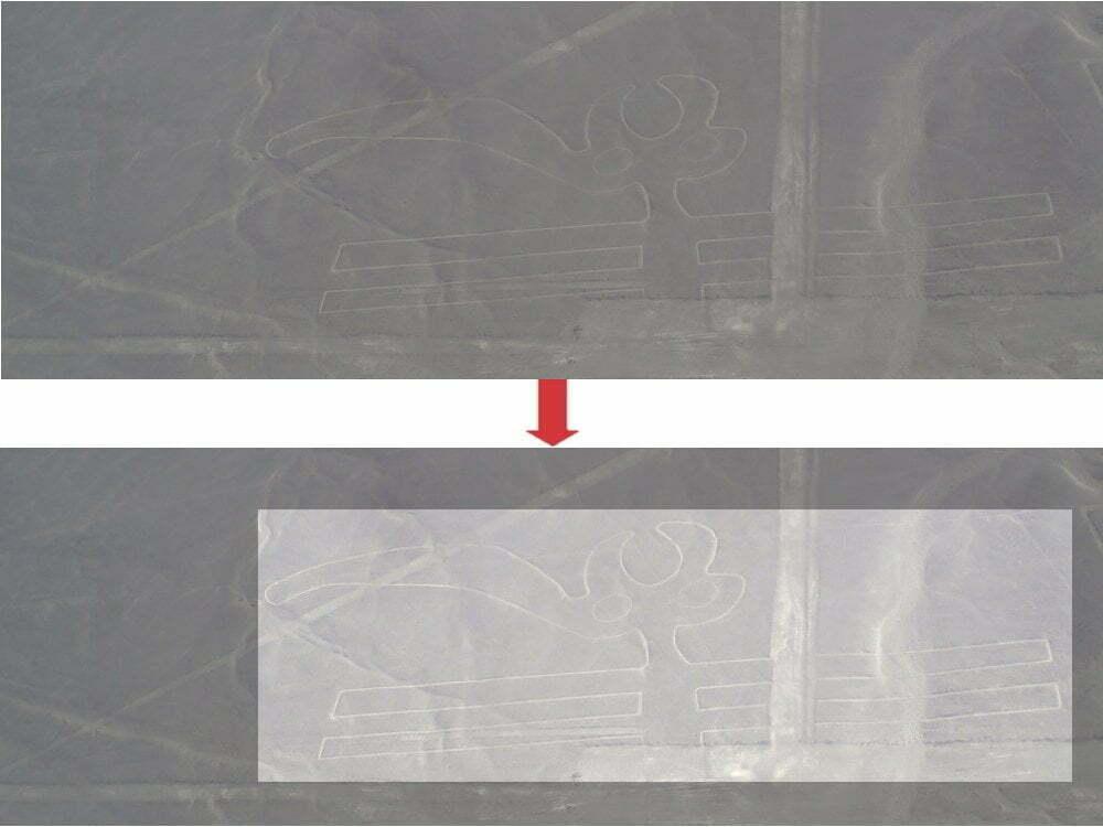Peru - Linee di Nazca - zoom pappagallo + immagine evidenziata