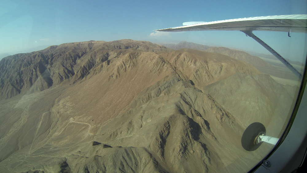Nazca Lines drawn from the hills?