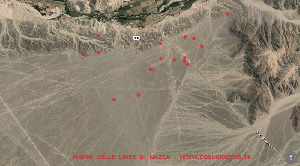 Peru - mappa geografica Linee di Nazca