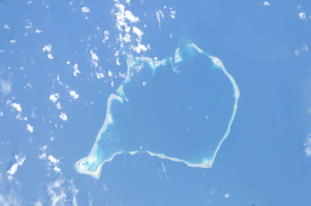 Tuvalu - Funafuti dall'aereo