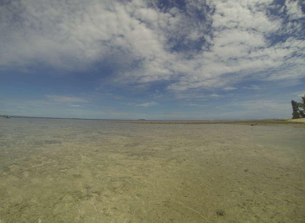 Tuvalu - Laguna Te Namo con la bassa marea