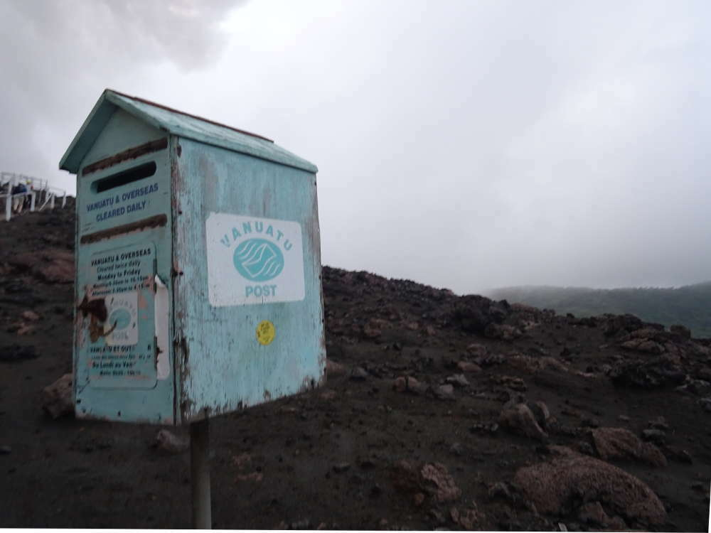 Vanuatu - Tanna Island - cassetta posta lettere Volcano Mont Yasur